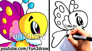 how to draw cartoons easy learn to draw a cartoon butterfly step