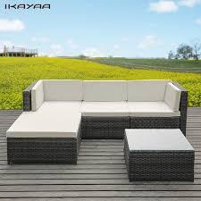 canapé en osier ikayaa mode pe rotin en osier patio meubles de jardin canapé