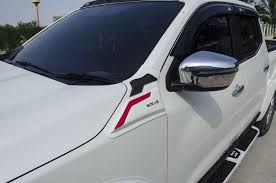 nissan finance acceptance criteria side hood vent simulator white red trim 2 pc fit nissan np300
