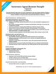 Life Insurance Agent Resume Sample Insurance Resume Sample Insurance Agent Resume Sample