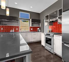 Subway Tiles Kitchen by Classic Red Glass Subway Tile In Cherry Modwalls Lush 3x6 Tile