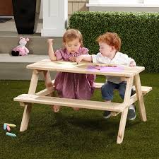 wooden childrens picnic table northbeam kids wooden picnic table walmart com