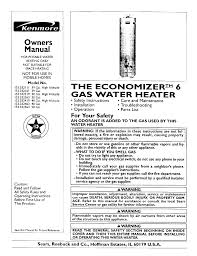 kenmore water heater 153 332463 user guide manualsonline com