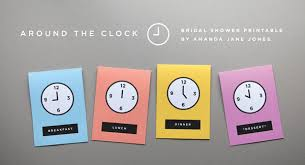 around the clock bridal shower free printable around the clock shower invite