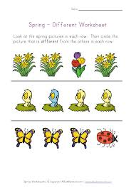 spring worksheet recognize different things bryce pinterest