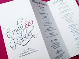 folded wedding program 10 best ceremony images on wedding stationary wedding