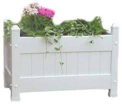 Extra Large Planters by Duratrel Model 11124 White Large Planter Box Fully Assembled The