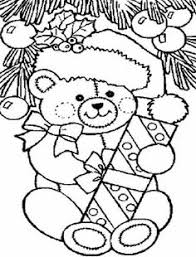 christmas bear coloring pages finest pin