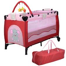 new pink baby crib playpen playard pack travel infant bassinet bed