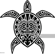 maori turtle tattoo vector art getty images