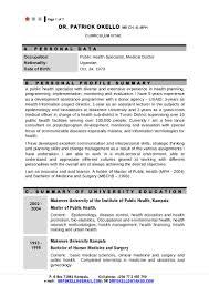 Curriculum Vitae Medical Doctor Cv Patrick 2014