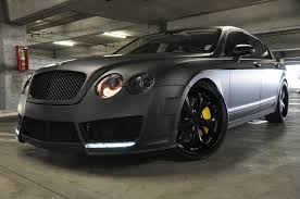 matte black bentley flying spur european vision autoworks murdered out bentley flying spur w