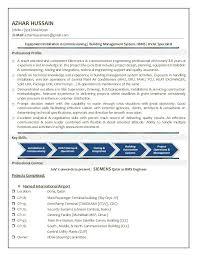 Sample Systems Engineer Resume by Azhar Bms Engineer Cv