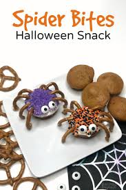 make spider bites for a fun halloween snack b inspired mama