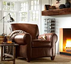 Pottery Barn Leather Chair Benchwright Shelf Pottery Barn With Or Without A Fireplace This