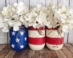 Red White And Blue Home Decor Red White And Blue Etsy