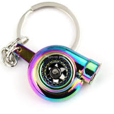 color key rings images Hot spinning turbo key chain rainbow color turbo keychain auto jpg