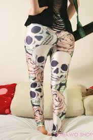Jamaican Flag Leggings Sugar Skull Leggings Gothic Goth Printed Leggings Yoga Sports