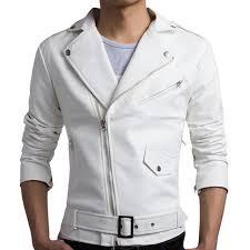 white motorcycle jacket new white pu leather jacket men 2017 design motorcycle biker jacket