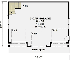 garage floor plan 3 car garage apartment with class 14631rk architectural
