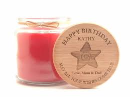 Personalized Birthday Candles 16oz Personalized Scented Jar Candle Birthday Wishes Come True