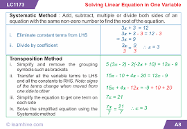mathematics simple linear equations