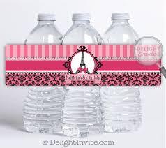 parisian theme water bottle labels di 685wb harrison greetings