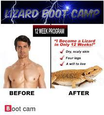 Seeking Lizard Cast Lizard Boot C 12 Week Program I Became A Lizard In Only 12