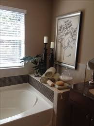 tub decor around tub decorating around bathtub candles around tub