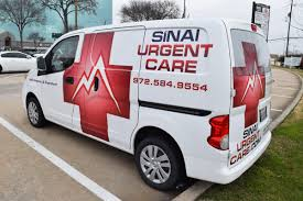 nissan nv200 sinai urgent care nissan nv200 partial wrap car wrap city