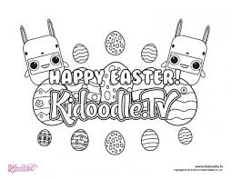 get your easter coloring sheets here kidoodle tv