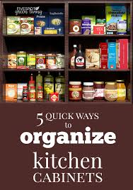 how to organize kitchen cabinets 5 ways to organize kitchen cabinets five spot green