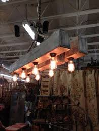 6 ft rustic beam edison bulb chandelier by handcraftedlighting