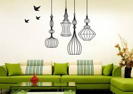 Beautiful Wall Stickers For Room Interior Design by Natural Elegant Interior Living Room With Modern House Wall