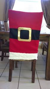 Santa Chair Covers Christmas Embroidered Holiday Linens Chair Back Covers Tables