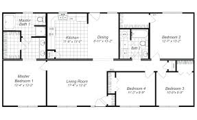four bedroom house floor plans dining kitchen layout modern 4 bedroom house layout designs