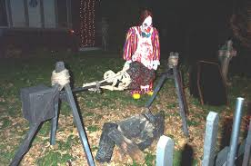 homemade scary halloween decorations outside