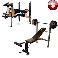 Home Bench Press Workout Free Weights And Bench Set Cap Barbell Weight Bench Set W 100lb