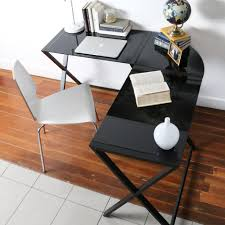 Metal And Glass Computer Desk Amazon Com We Furniture Elite Soreno Glass Corner Computer Desk