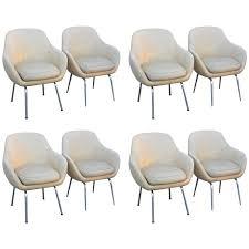 vintage saarinen style armchairs salvaged from swedish cruise ship