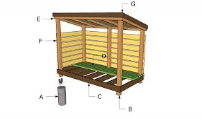 Plans For Building A Firewood Shed by Firewood Storage Shed Plans Howtospecialist How To Build Step
