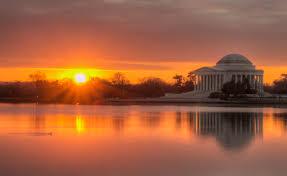 file jefferson memorial just as the sun breaks the horizon jpg