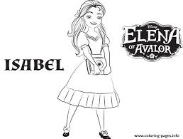 isabel elena avalor disney princess coloring pages printable