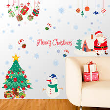 Christmas Wall And Window Decorations by Style Diy Wall Post Christmas All Membrane Adhesive Glass