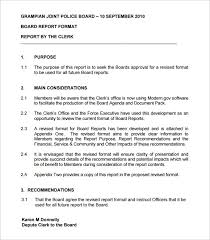 committee report template board report template templates franklinfire co