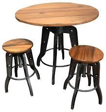 Drop Leaf Bistro Table Bar Stool Kalomar Adjustable Pub Table And Stools 3 Piece Set