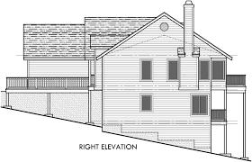 rear view house plans rear view house plan w daylight basement