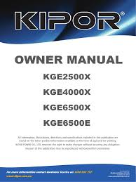 gasoline generator kge2500x manual en battery electricity