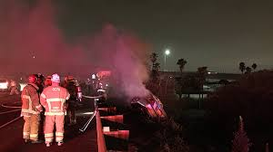 1 killed in fiery crash off 91 freeway in anaheim cbs los angeles