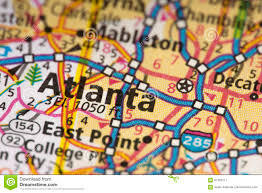 Atlanta Georgia Map Atlanta Georgia On Map Stock Photo Image 87763211